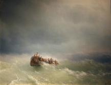 Ivan Aivazovsky - Sea Storm (1872). Oil on canvas.