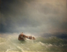 Ivan Aivazovsky - Sea Storm (1872). Oil on canvas.