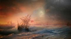 Ivan Aivazovsky - Storm near Evpatoria on November 2, 1854 (1861). Oil on canvas.