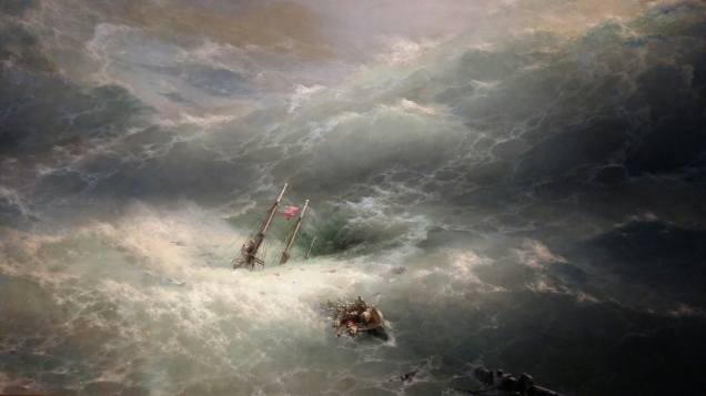 Ivan Aivazovsky - Wave (1889). Oil on canvas.