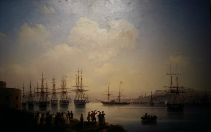 Ivan Aivazovsky - Russian Squadron on the Raid of Sevastopol (1846). Oil on canvas.