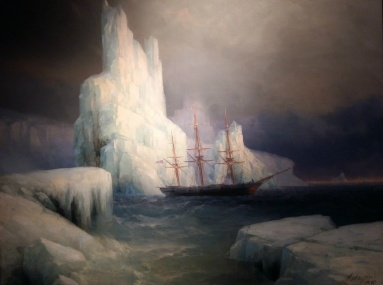 Ivan Aivazovsky - Icebergs (1870). Oil on canvas. This painting was devoted to the 50th anniversary of Antarctica's exploration by the Russian expedition of Faddey Bellinsgauzen and Mikhail Lazarev on January 28, 1820.