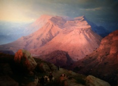 Ivan Aivazovsky - Mountain Village Gunib in Dagestan. View from the East (1869). Oil on canvas.