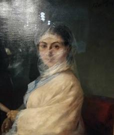 Ivan Aivazovsky - Portrait of Anna Aivazovskaya, Artist's Second Wife (1882). Oil on canvas.