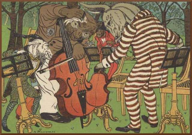 "Vasily Timorev - illustration to ""Quartet""."