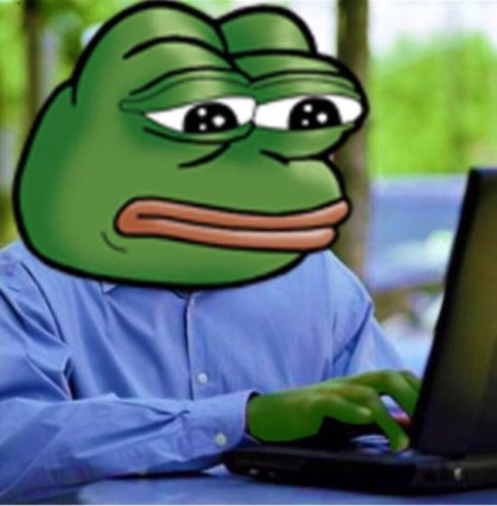 On the Internet, everybody knows you're a frog