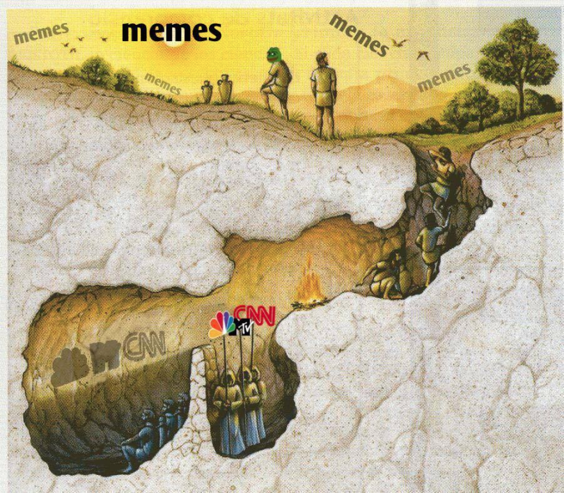The allegory of the meme.