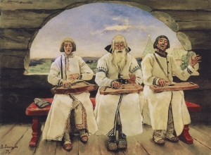Viktor Vasnetsov - Guslyary (Gusli musicians), 1899.